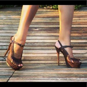 YSL Croc Heels Sz 39